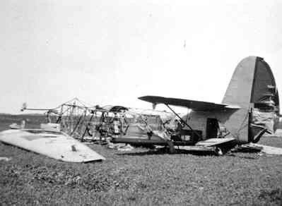 Wrak Focke-Wulf FW-58 197 op Texel.