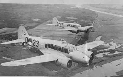 Twee Avro 652A Anson Mk.1's.