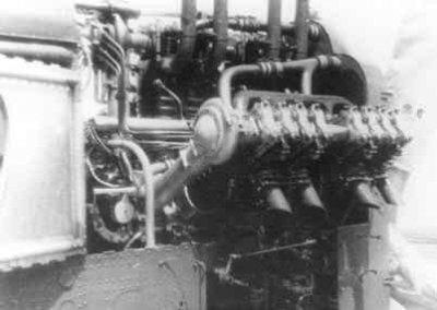 Lorraine Dietrich motor van de Dornier Wal vliegboot