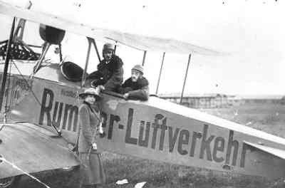 Rumpler C.I van Rumpler-Luftverkehr in Maastricht, reg. D.133. 1919-1920.