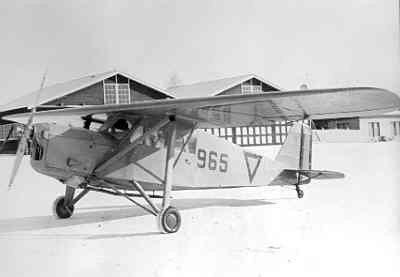 Koolhoven FK.43 965, ex PH-ASN (KLM). Verbindings- en lesvliegtuig Jachtgroep Luchtverdediging (II-1 LvR) in 1939-40.