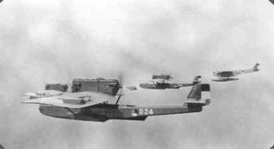 Formatie Dornier Wal-vliegboten en Fokker T-IV zeebommenwerpers  met o.a. de D 24 (1929-1939), de D 26 (1929-1932) en de T 2 (1928-1939).