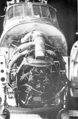 Sikorsky H04S-3 (UH 19F)  Air Sea Rescue 078 Delila (1953-1963) (Sikorsky/USA) Inbouw van de motor
