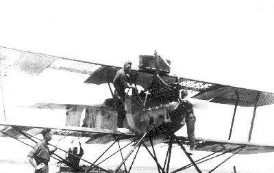 Verkenningsvliegtuig Van Berkel WA (1919-1933). Mogelijk een oud toestel om het taxien te beoefenen
