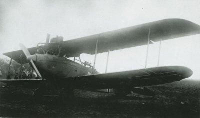 Duitse D.F.W. C.V met registratie 4375/18 te Rilland Bath op 12 oktober 1918.