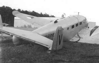 Beechcraft-navigator TC-45J van VSQ 5 nr. 080, trainer voor voortgezette vliegopleiding, gecrashed in Duitsland te Dever op 27 april 1967. Vlieger ltz1 R. van Vlijmen