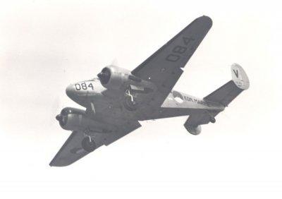 Beechcraft SNB-5 -, regnr. U45, later  084. (1953-1974) Lestoestel voortgezette vliegopleiding VSQ 5. Verstrekt aan de MLD onder MDAP-voorwaarden, 1975 terug naar MAAG.