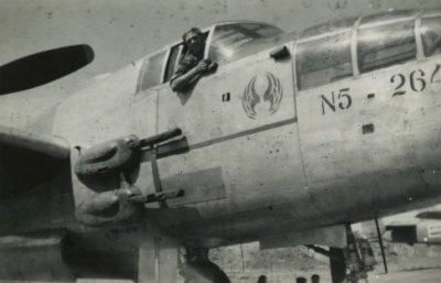Een B-25 bommenwerper van de Militaire Luchtvaart van het Koninklijk Nederlands-Indisch Leger (ML-KNIL).