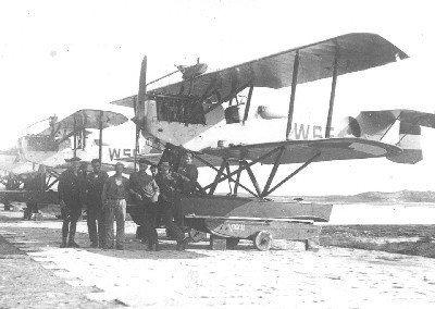 Van Berkel WA lichte verkenningsvliegtuigen met drijvers (1919-1933) op het MVK de Mok