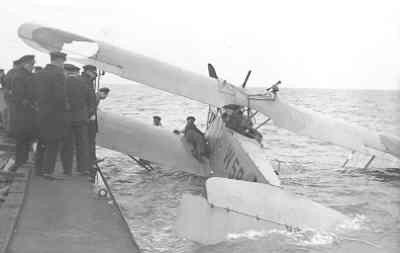 De Van Berkel WA W-59 (1919-1933) gecrasched in zee