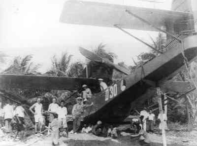 Maritieme patrouillevliegboot Dornier Wal D 30 (1929-1940) Aviolanda Papendrecht/Ned.  Op de wal voor bodemreparatie.