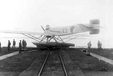 Verkenningsvliegtuig Van Berkel WB (1921-1933) op de helling