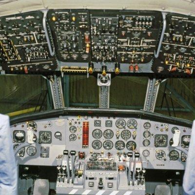 Cockpit van een Breguet BR1150 Atlantic (SP-13A) maritiem patrouillevliegtuig (1969-1984).