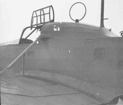 Detail romp en cockpit Focke-Wulf FW-58 Weihe.
