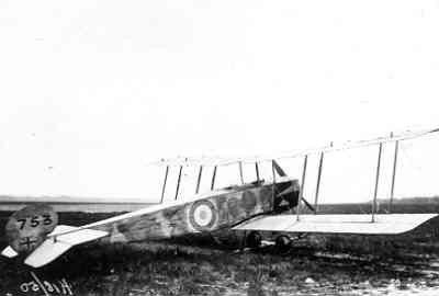 Avro 504 nr. 753 (RFC) op Soesterberg.