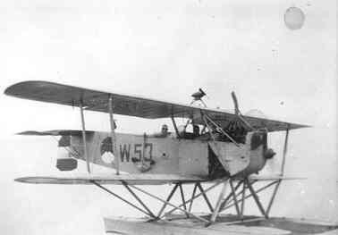 Verkenningsvliegtuig Van Berkel WA (W-53) (1919-1933) met mercedesmotor