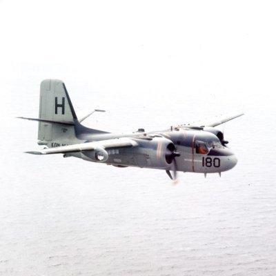 Het Grumman (C)S2F-1 Tracker ((C)S-2A)  onderzeebootbestrijdingsvliegtuig 180 (1961-1971).