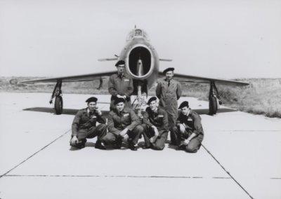 Grondpersoneel van het F-84F demoteam van 314 Sqn