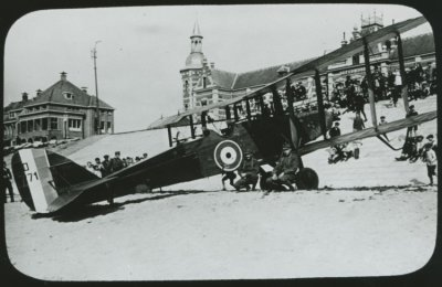 DH.9 D3271 van RAF No. 218 Sq. te Vlissingen, 26 sept. 1918.