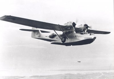 Maritieme patrouilleamphibie    Consolidated PBY-5A (1954-1956) Catalina.  Regnr. P-225. 28-08-1954 Gesloopt MVKB