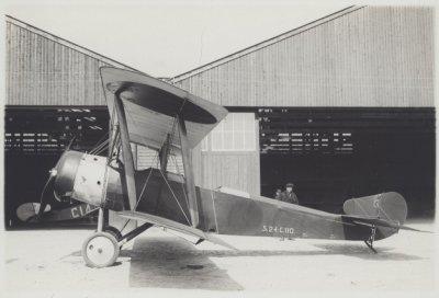 Sopwith 1½ Strutter van de LVA Soesterberg, op bezoek MVK de Kooy 1919. Was een geïnterneerd vliegtuig