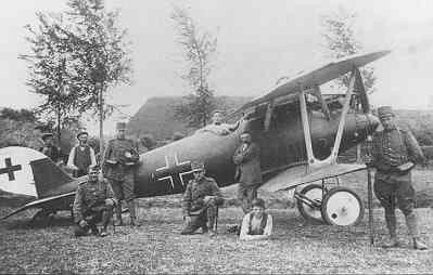 Pfalz D.IIIa met reg. 1306/18 landde op 12 juni 1918 bij Schoondijke. Vlieger Gefr. Heinz Kleineberg. Ned. registratie PF225. Met toeschouwers en bewaking.