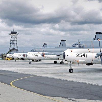 Breguet BR1150 Atlantic (SP-13A) maritiem patrouillevliegtuigen  (1969-1984), waaronder de 254 (1971-1984) en de 256 (1971-1984) op marinevliegkamp Valkenburg.