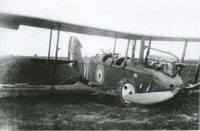 DH.9 C1211 van RAF No. 218 Sq. te Breskens op 29  juni 1918.