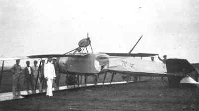 AVRO 504K na een vlieongeval met OMSD2 v. Os