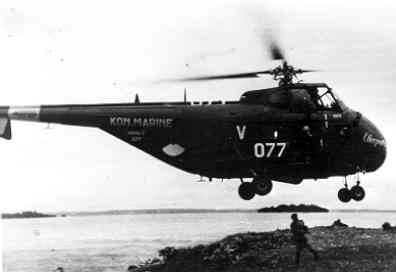 Sikorsky HO4S-3 (UH- 19F)  H-3 (1953-1962), bijgenaamd Cleopatra,  Air Sea Rescue helikopter.