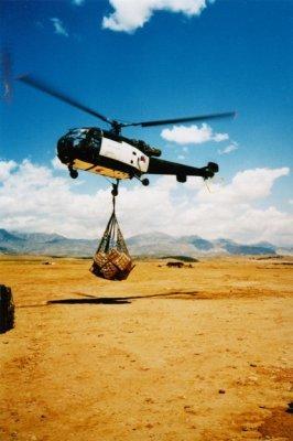 Alouette III heli, actief in Noord-Irak/Zuid-Oost-Turkije, in het kader van