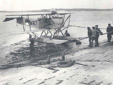 Verkenningsvliegtuig Van Berkel WA (W-67) (1919-1933). De sleephelling