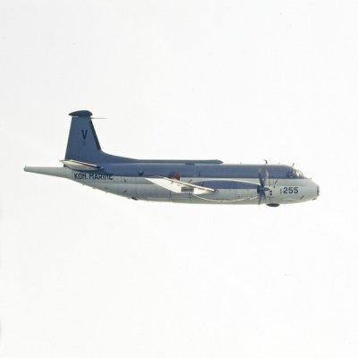 Het Breguet BR1150 Atlantic (SP-13A) maritiem patrouillevliegtuig 255 (1971-1981) in de lucht.