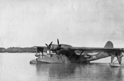 De Consolidated PBY-5 Catalina maritieme patrouillevliegboot Y-62 of Y-69 in het najaar van 1945