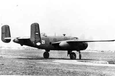 Middelzware bommenwerper North American B-25 J Mitchell (1944-1953) (North American Aviation Corporation/ USA). Op MVK Valkenburg