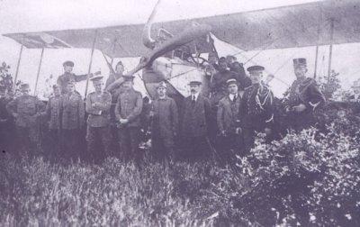 Albatros B.II met registratie 78/14, geïnterneerd te Vlodrop op 9 augustus 1916.