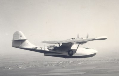 Maritieme patrouilleamphibie    Consolidated PBY-5A (1953-1957) Catalina.  Regnr.16-218. 15-06-57 gesloopt MVKB