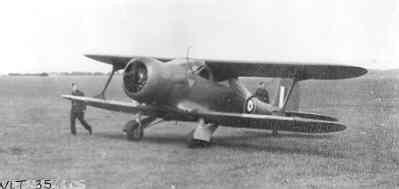 De Beechcraft 17 'Staggerwing', door ZKH Prins Bernhard (1911-2004) gebruikt in Engeland tijdens WO II