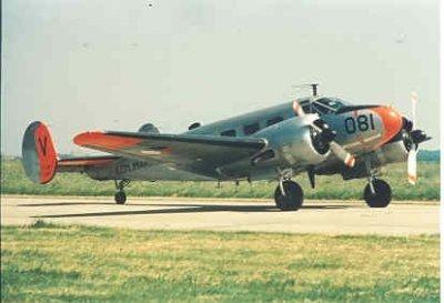 Beech SNB-5 (081) lesvliegtuig voor luchtnavigatie
