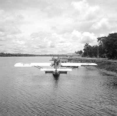 Maritieme patrouillevliegboot Dornier Wal (1926-1940). Afgemeerd