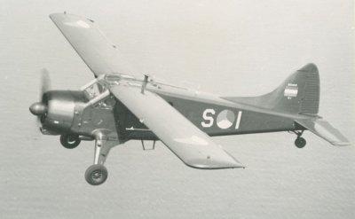 Beaver S-1 in de vlucht.