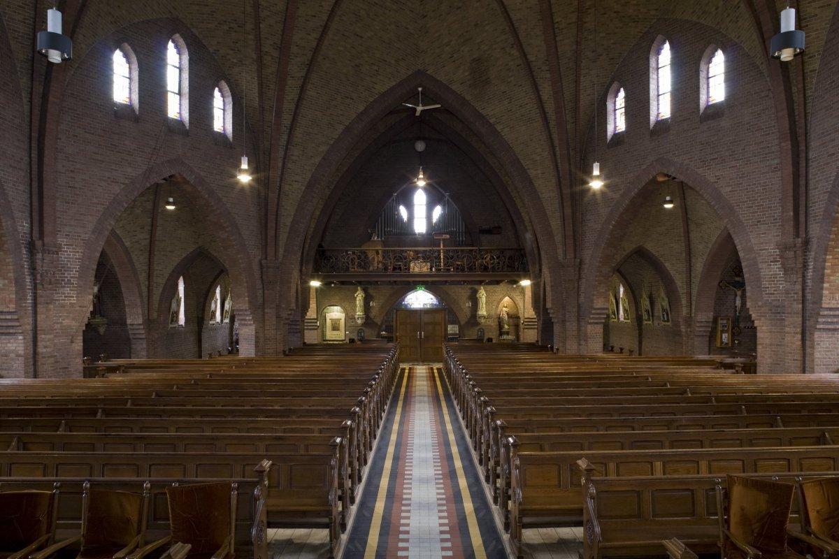 Sint caeciliakerk in rietmolen monument - Whirlpool van het interieur ...