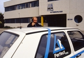 Medewerker van Perfect Beveiliging bij het kantoor van Delta...