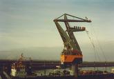 Kraan 7 Ovet in de Oostbuitenhaven Terneuzen ca. 1990