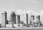 Fabriek van de Nederlandse Stikstof Maatschappij (NSM) te Sluiskil.