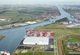 Autrichehaven met de gerealiseerde nieuwbouw van Vlaeynatie.