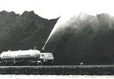 Stofbestrijding op de kolenterminal van Ovet in de Massagoedhaven.