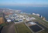 Luchtfoto Westelijke kanaaloever toekomstig terrein maintenance...