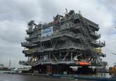Offshore platform ROW Z01 in de Bijleveldhaven