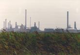 Total Raffinaderij in het havengebied Vlissingen-Oost. Foto gemaakt...